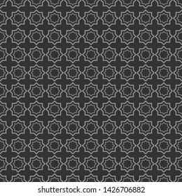 Фотообои Geometric shapes, seamless pattern on dark grey.