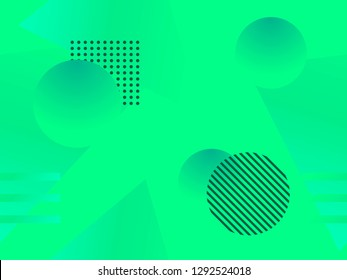 Geometric shapes seamless pattern. Zine culture abstract background. Vector illustration