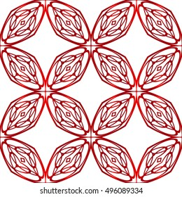 geometric shapes. seamless vector image. red gradient