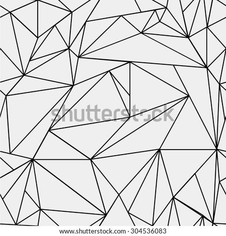 Geometric Simple Black White Minimalistic Pattern Stockvector
