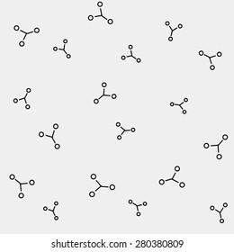 Geometric simple monochrome minimalistic vector pattern, science