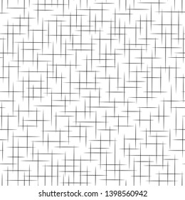 Geometric simple print. Seamless pattern. Black and white monochrome background with lines. Abstract neutral structure. Repeating stripe texture. Background for fabric and textile. Vector illustration