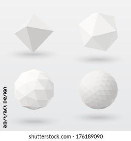 Geometric solids set. Vector design.