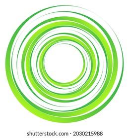 Geometric spiral, swirl, twirl circles. Abstract circular illustration. Twist, spin, rotation effect circles