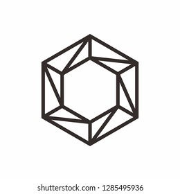 Geometric Square Hexagon Business Company Stock Vector Logo Design