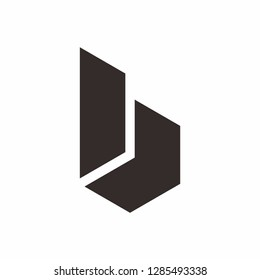 Geometric Square Letter B Business Company Vector Logo Design