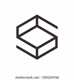 Geometric Square Letter S Business Company Vector Logo Design