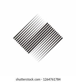 Geometric Square Line Box Business Company Vector Logo Design