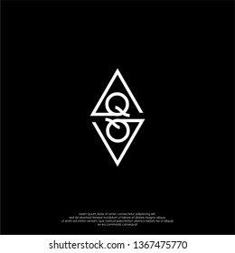 geometric square monogram QQ logo letter in modern lines shape design concept