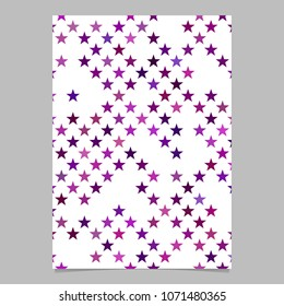 Geometric star pattern flyer template background - vector graphic design