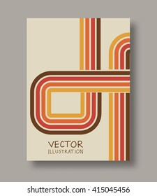 Geometric strip abstract flyers. Brochures unusual color shapes style. Design Painting elements. Line art. Wallpaper with empty space for your text. Vector illustration.
