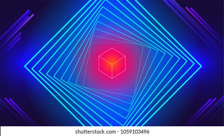 geometric tech electronic dance music elements abstract background