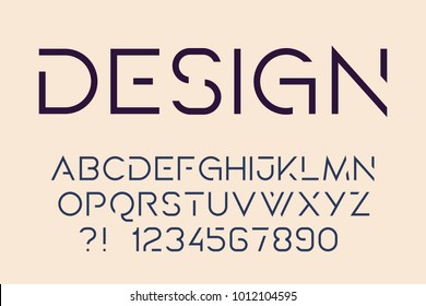 Geometric technology font Modern sport design