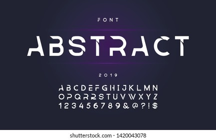 Geometric technology font Modern sport design. Vector of modern abstract font and alphabet.