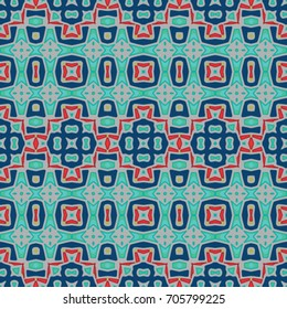 Geometric texture. Boho-chic fashion. Abstract geometric ornaments. Vector illustration. Pattern for textile, print or web design.
