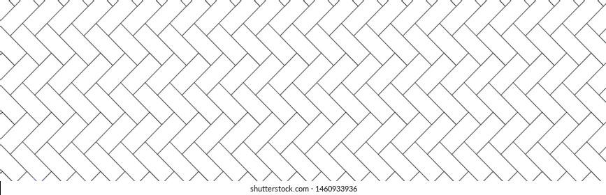 Geometric texture, repeating linear abstract pattern Thin black line seamless vector pattern.Diagonally laid bricks Scandinavian style brick background for kitchen splash back Herringbone pattern