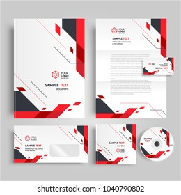 Geometric theme Corporate identity design template stipes elements