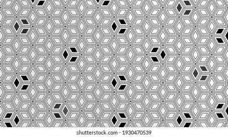 Geometric themed screen illustration design,hexagon design.Modern. Dark color embossed design.For wallpaper.Embossed hexagon black background. Light and shadow.modern background.colorful.black surface