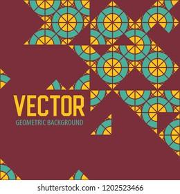 Geometric tiles decoration background. Vector patterns design