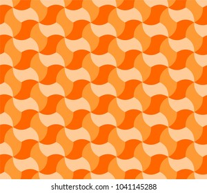 Geometric tiling in shades of orange, abstract background