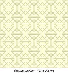 Geometric traingle seamless pattern. Olive green background. Vector illustration