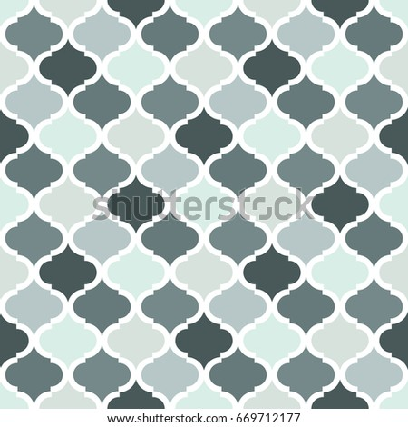 Geometric Trellis Pattern Grey Seamless Background Screen Print Vector Texture Website Textured