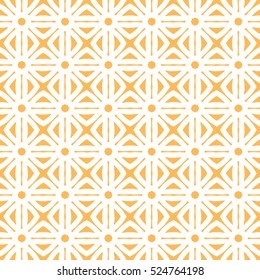 Geometric trellis pattern. Yellow and white seamless background. Screen print vector texture. Website textured pattern. Trellis seamless background. Vector seamless pattern for interior design