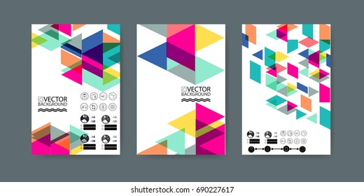 Geometric trendy illustration background, placard, geometric style flat and 3d design elements. Retro art for covers, banners and posters.
