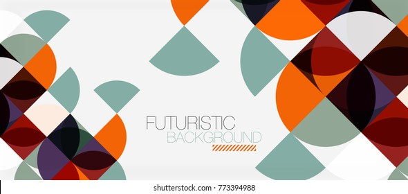 Geometric triangle and circle shape, wide abstract background. Vector modern minimalistic business or technology wallpaper, backdrop for presentation or banner