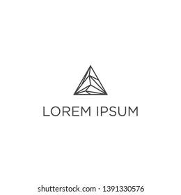 geometric triangle logo design concept