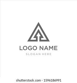 geometric triangle logo design,peak logo with modern style