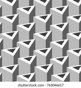 Geometric Triangles Grey
