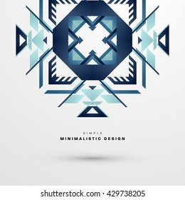 Geometric Vector Background. Pattern for Business Presentations, Application Cover and Web Site Design