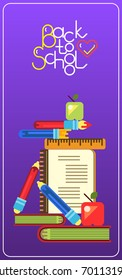 Geometric vector banners. Education concept poster