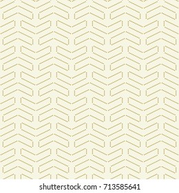 Geometric vector pattern with dotted golden elements. Geometric modern ornament Seamless abstract background