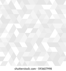 Geometric vector pattern with light silver triangles. Geometric modern ornament. Seamless abstract background