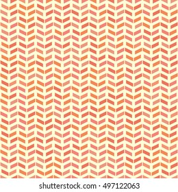 Geometric vector pattern with red and pink arrows. Seamless abstract background