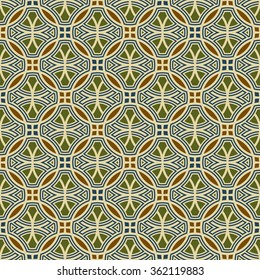Geometric vector pattern in retro style, modern stylish circle texture, abstract background, wrapping paper, 40s, 50s, 60s, 70s fashion style, trendy fabric, template, layout for design