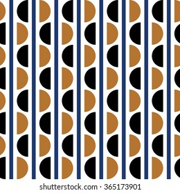 Geometric vector pattern in retro style, modern stylish circle texture, abstract background, wrapping paper, 40s, 50s, 60s,70s, 90s fashion style, trendy fabric, template, layout for design