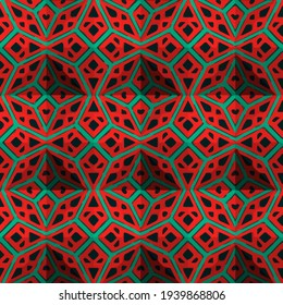 Geometric vector pattern with triangular elements. Seamless abstract ornament for wallpapers and backgrounds.
