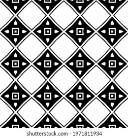 Geometric vector pattern with triangular elements. abstract ornament for wallpapers and backgrounds. Black and white colors.