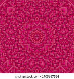 Geometric vector seamless pattern. Creative endless symmetrical motif. Ceramic ornament. Arabic seamless background design. Decor continuous pattern.