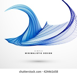 Geometric Vector Wave. Abstract Perspective Curve Lines Background