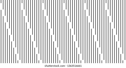 Geometric of vertical lines vector pattern. Design dash stripe diagonal black on white background. Design print for illustration, element, textile, wallpaper, background.
