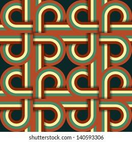 Geometric Vintage Retro Seamless Pattern Illustration
