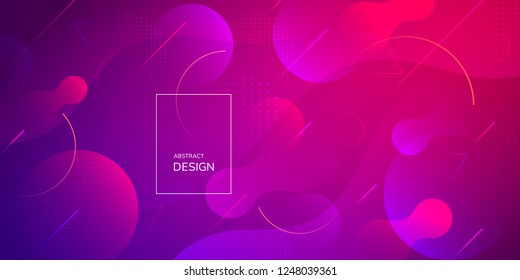 Geometric wallpaper. Fluid gradient shapes composition. Futuristic design posters. Vector abstract background.