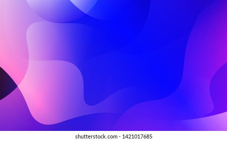 Geometric Wave Shape with Colorful Gradient Color Background Wallpaper. Vector Illustration