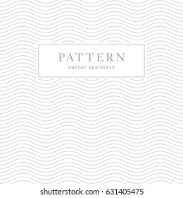 Geometric waves seamless pattern. Light collection. Simple light grey background design. Template for prints, wrapping paper, fabrics, covers, flyers, banners, posters and placards.