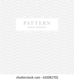 Geometric waves seamless pattern. Light collection. Abstract textured background design. Vector illustration for minimalistic design. Modern elegant wallpaper.