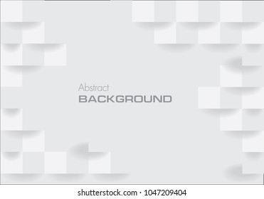 Geometric white abstract background design. White square geometric texture background Can be adapt to Brochure, Annual Report, Magazine, Poster, Corporate Presentation, Portfolio, Flyer, Banner, Web.
